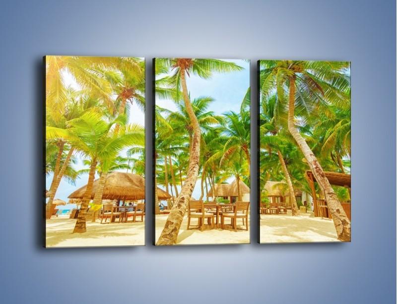 Obraz na płótnie – Słoneczna sjesta pod palmami – trzyczęściowy KN886W2