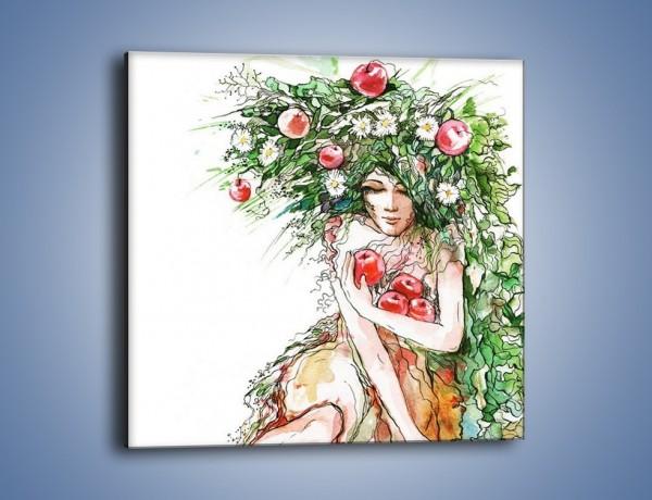 Obraz na płótnie – Jabłoń dobrze ukryta – jednoczęściowy kwadratowy GR375