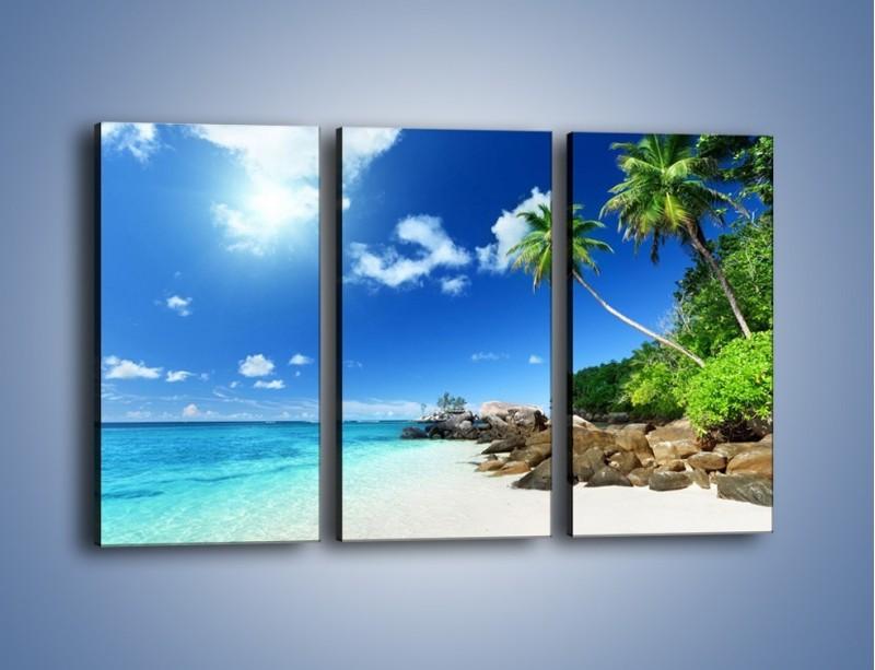 Obraz na płótnie – Rajska plaża i jej piękno – trzyczęściowy KN963W2