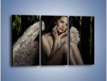 Obraz na płótnie – Anioł i jego tęsknota – trzyczęściowy L011W2