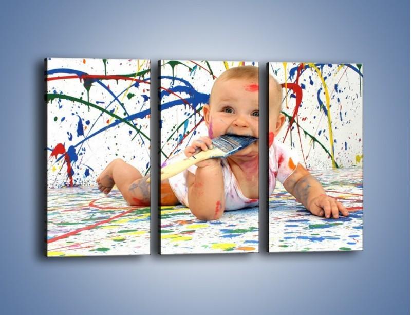 Obraz na płótnie – Chodź pomaluj mój świat – trzyczęściowy L059W2