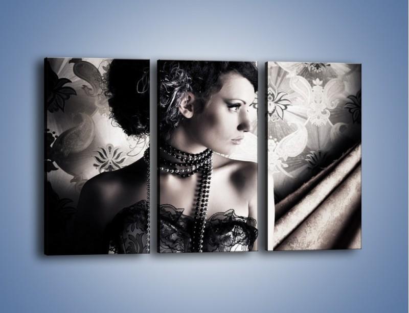 Obraz na płótnie – Czarny kobiecy charakter – trzyczęściowy L095W2