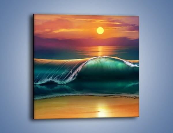 Obraz na płótnie – Zamknąć się w oceanie – jednoczęściowy kwadratowy GR382