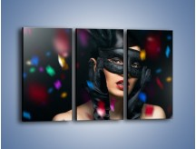 Obraz na płótnie – Bal w czarnych maskach – trzyczęściowy L177W2