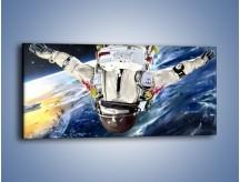 Obraz na płótnie – Dotrzeć na księżyc – jednoczęściowy panoramiczny GR355