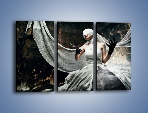 Obraz na płótnie – Dama w białych bandażach – trzyczęściowy L278W2
