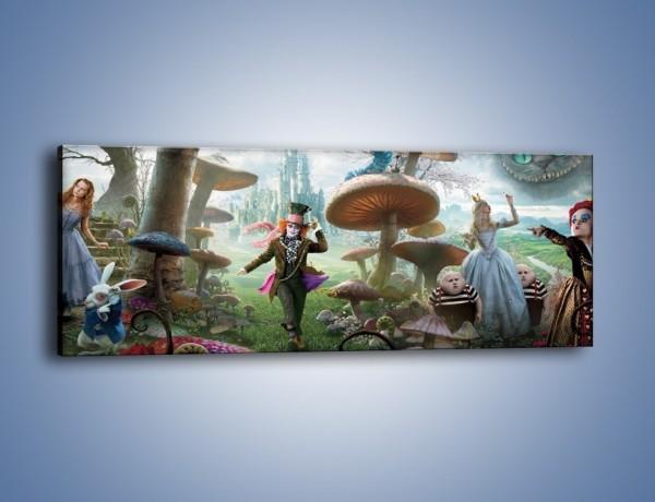 Obraz na płótnie – Alicja w krainie czarów – jednoczęściowy panoramiczny GR357