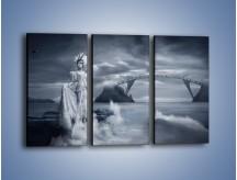 Obraz na płótnie – Dama w sepii – trzyczęściowy L292W2