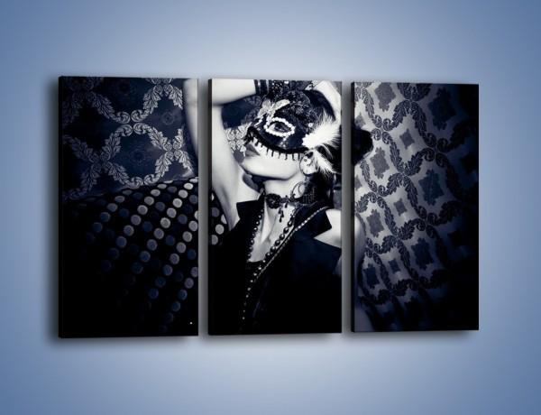 Obraz na płótnie – Czarno-biała dama – trzyczęściowy L315W2
