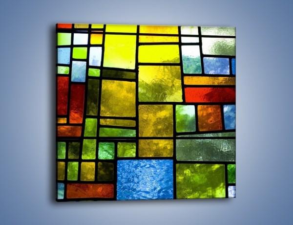 Obraz na płótnie – Zabawa w kwadraty i prostokąty – jednoczęściowy kwadratowy GR390