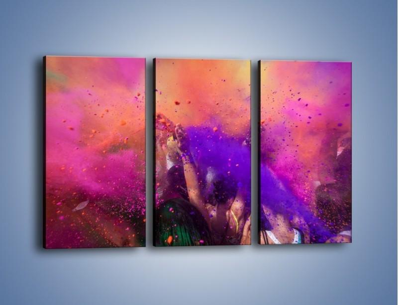 Obraz na płótnie – Burza kolorowego piachu – trzyczęściowy L357W2