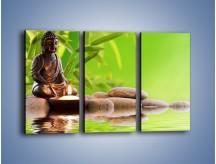 Obraz na płótnie – Medytujący budda nad wodą – trzyczęściowy O022W2