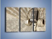 Obraz na płótnie – Głos w srebrnym mikrofonie – trzyczęściowy O026W2
