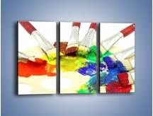 Obraz na płótnie – Kolory pędzlem malowane – trzyczęściowy O046W2