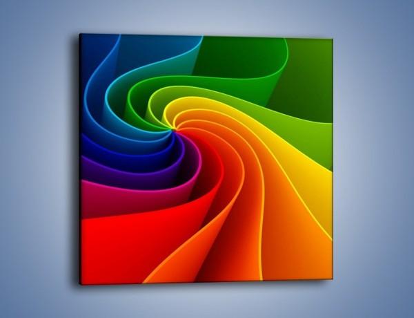 Obraz na płótnie – Niczym kolorowy kwiat – jednoczęściowy kwadratowy GR392