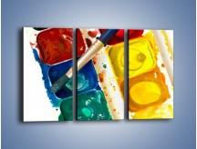 Obraz na płótnie – Kolorowy świat malowany farbami – trzyczęściowy O116W2