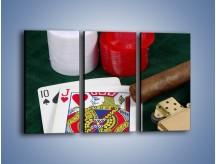 Obraz na płótnie – Męski świat hazardu – trzyczęściowy O121W2