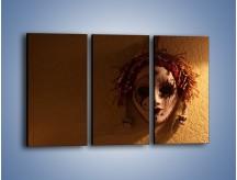 Obraz na płótnie – Maska ze znaczącymi szczegółami – trzyczęściowy O161W2