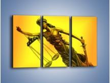Obraz na płótnie – Figurka ważna w świecie prawa – trzyczęściowy O164W2