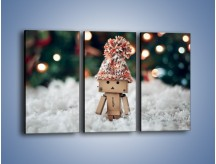 Obraz na płótnie – Mały ludek zimową porą – trzyczęściowy O166W2