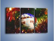 Obraz na płótnie – Bombka ręcznie malowana – trzyczęściowy O168W2