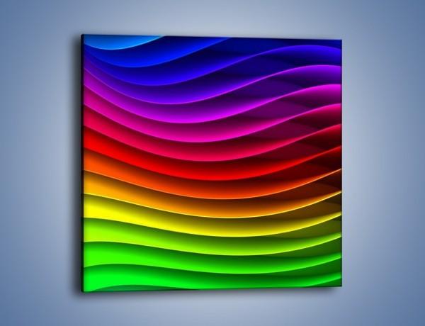 Obraz na płótnie – Falą w kolorze – jednoczęściowy kwadratowy GR393