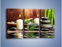 Obraz na płótnie – Masaż przy świecach – trzyczęściowy O176W2
