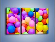 Obraz na płótnie – Basen z kolorowymi piłeczkami – trzyczęściowy O208W2