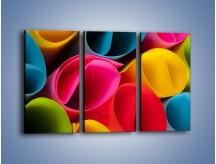 Obraz na płótnie – Kolorowe rulony – trzyczęściowy O217W2