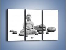 Obraz na płótnie – Budda wśród kamieni – trzyczęściowy O229W2