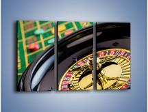 Obraz na płótnie – Czas drogocenny w kasynie – trzyczęściowy O238W2