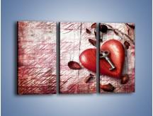 Obraz na płótnie – Klucz do serca – trzyczęściowy O246W2