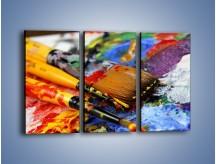 Obraz na płótnie – Kolory ze sobą zmieszane – trzyczęściowy O251W2