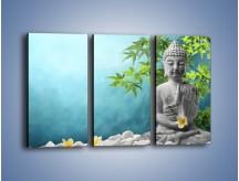 Obraz na płótnie – Idealny świat harmonii i spokoju – trzyczęściowy O258W2