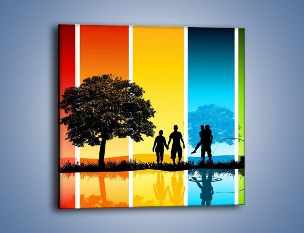 Obraz na płótnie – Kadr z życia – jednoczęściowy kwadratowy GR396