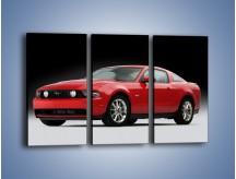 Obraz na płótnie – Czerwony Ford Mustang GT – trzyczęściowy TM052W2
