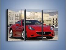 Obraz na płótnie – Czerwone Ferrari California – trzyczęściowy TM057W2