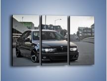 Obraz na płótnie – Czarne BMW E39 M5 – trzyczęściowy TM072W2