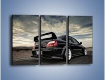 Obraz na płótnie – Czarne Subaru Impreza WRX Sti – trzyczęściowy TM133W2