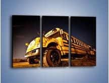Obraz na płótnie – Amerykański School Bus – trzyczęściowy TM146W2