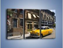 Obraz na płótnie – Amerykańska taksówka z lat 56 – trzyczęściowy TM164W2