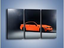 Obraz na płótnie – BMW M3 E92 Coupe Orange – trzyczęściowy TM168W2