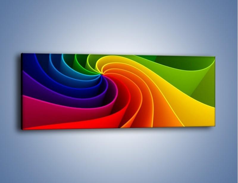 Obraz na płótnie – Niczym kolorowy kwiat – jednoczęściowy panoramiczny GR392