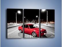 Obraz na płótnie – BMW 5 E34 na moście – trzyczęściowy TM227W2