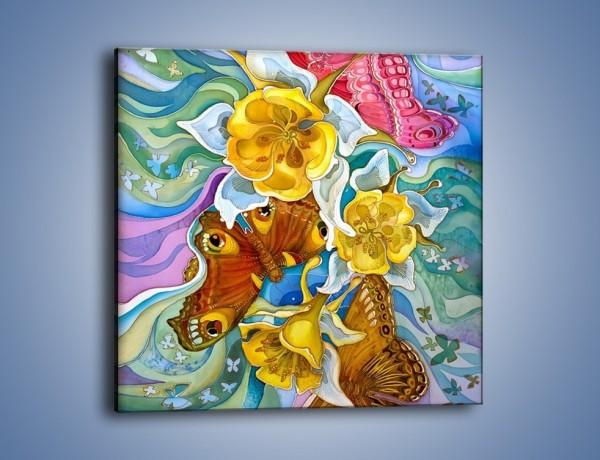 Obraz na płótnie – Zatopić się w kwiatach – jednoczęściowy kwadratowy GR404