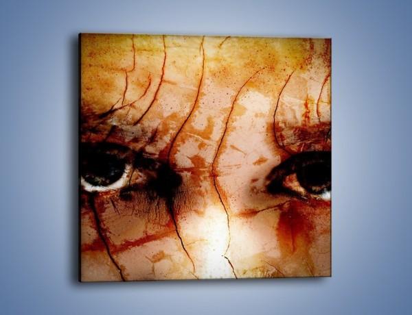Obraz na płótnie – Spojrzeć i przestraszyć – jednoczęściowy kwadratowy GR405