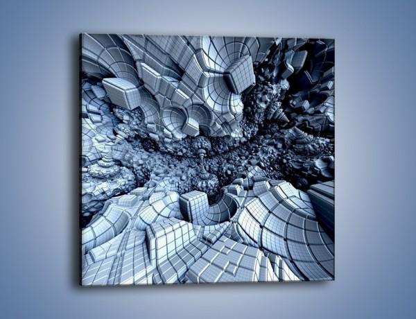 Obraz na płótnie – W zamkniętym świecie – jednoczęściowy kwadratowy GR409