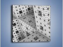 Obraz na płótnie – Budynki z klocków – jednoczęściowy kwadratowy GR410