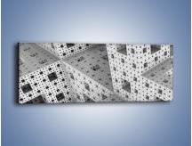 Obraz na płótnie – Budynki z klocków – jednoczęściowy panoramiczny GR410