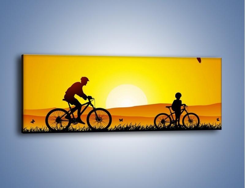 Obraz na płótnie – Bezcenny czas z synem – jednoczęściowy panoramiczny GR414